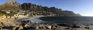Camps Bay with the Twelve Apostles in the Background, Western Cape Province, South Africa