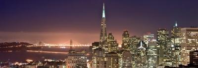San Francisco at Night, California by Can Balciogiu