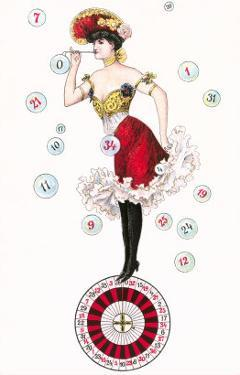 Can-Can Dancer on Roulette Wheel