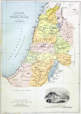 Canaan as it Was Divided Between the Twelve Tribes of Israel