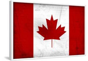 Canada Flag Distressed Art Print Poster