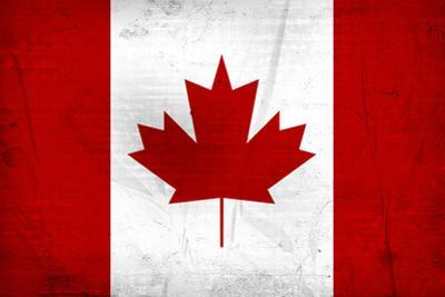 Canada Flag Distressed Art Print Poster