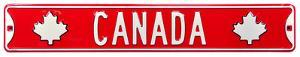 Canada Steel Street Sign With Logos
