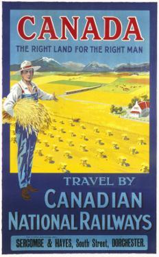 Canada, the Right Land for the Right Man Poster