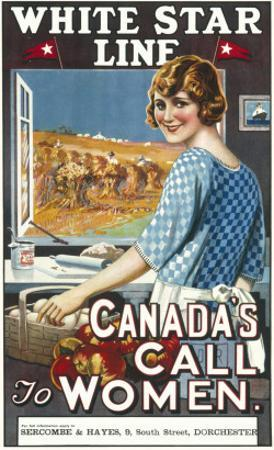 Canadian Call to Women White Star Line Poster