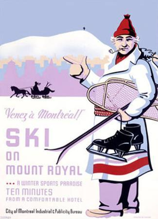 Canadian Mount Royal Ski Poster