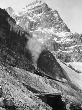 Canadian Pacific Railroad Beneath Mount Stephen