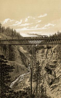 Canadian Pacific Railroad Trestle Over Stoney Creek, 296 Feet High, 1880s