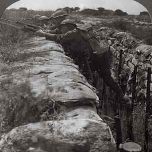 Canadians Leaving their Trenches to Rush a German Position, World War I, 1914-1918