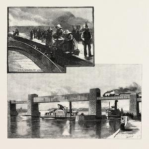 Canal Lock, and Railway Bridge at Ste. Anne'S, Canada, Nineteenth Century