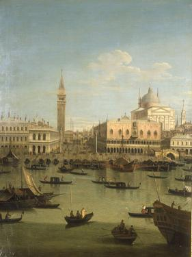 A Capriccio View of the Piazzetta with the Church of Il Redentore by Canaletto