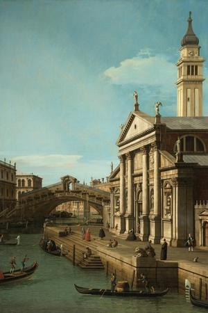Capriccio: The Rialto Bridge and the Church of S. Giorgio Maggiore, c.1750