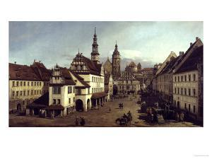 Dresden Market Square by Canaletto