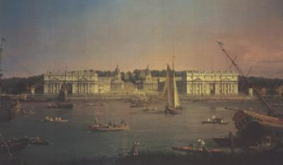 Greenwich from the Isle of Dogs by Canaletto