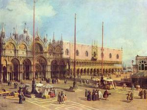 Canaletto (II) (La Piazza San Marco) Art Poster Print