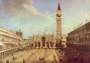 Canaletto (II) (Piazza San Marco) Art Poster Print