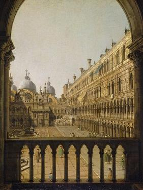 Interior Court of the Doge's Palace, Venice, C.1756 by Canaletto