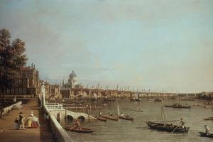 London from Somerset House by Canaletto
