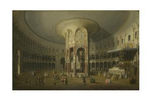 London: Interior of the Rotunda at Ranelagh, 1754 by Canaletto
