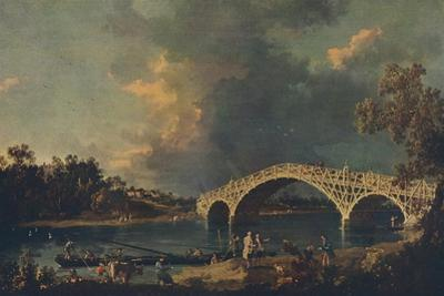 'Old Walton Bridge', 1754 by Canaletto