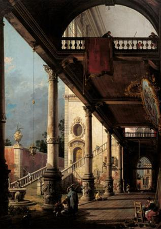 Perspective with Portico by Canaletto