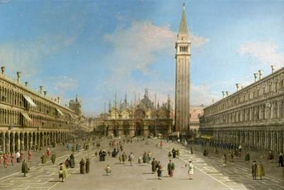 Piazza San Marco Looking Towards the Basilica Di San Marco by Canaletto