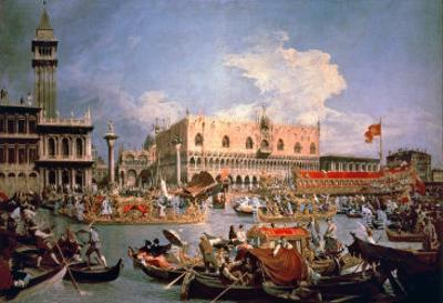 Return of the Bucintoro on Ascension Day by Canaletto