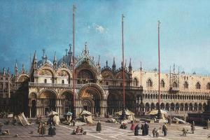 San Marco and the Doge's Palace, Venice by Canaletto