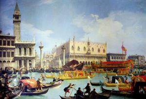 The Betrothal of the Venetian Doge to the Adriatic Sea, circa 1739-30 by Canaletto