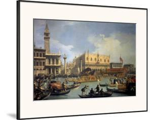 The Betrothal of the Venetian Doge to the Adriatic by Canaletto