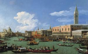 The Bucintoro Preparing to Leave the Molo on Ascension Day by Canaletto