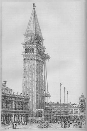 'The Campanile of St. Mark's While Undergoing Repair in 1745', 1903 by Canaletto