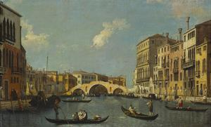 The Cannaregio, Venice, with Palazzo Testa, Palazzo Surian-Bellotto and the Ponte Dei Tre Archi,… by Canaletto