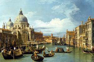 The Entrance to the Grand Canal, Venice by Canaletto