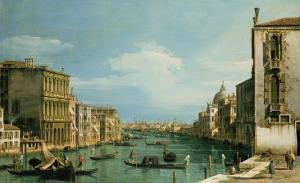 The Grand Canal Venice Looking East from the Campo Di San Vio by Canaletto