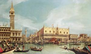 The Molo, Venice by Canaletto