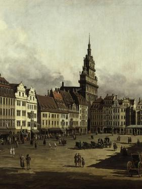 The Old Market in Dresden by Canaletto