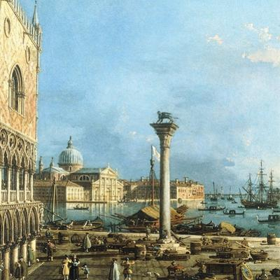 The Piazzetta, Venice, with the Bacino Di S. Marco and the Isola Di S. Giorgio Magiore by Canaletto