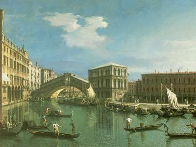 The Rialto Bridge, Venice by Canaletto