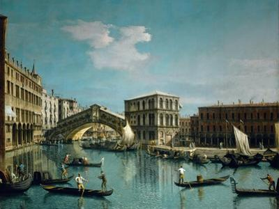 The Rialto Bridge by Canaletto