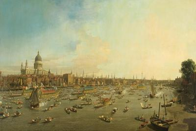 The River Thames with St. Paul's Cathedral on Lord Mayor's Day, c.1747-8