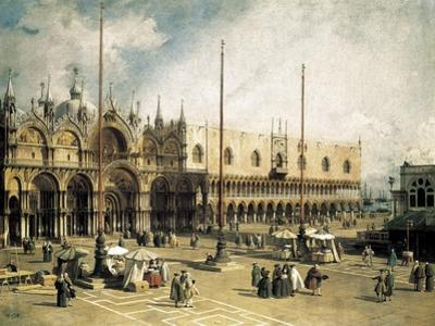 The Square of Saint Mark's, Venice (Piazza San Marco) by Canaletto