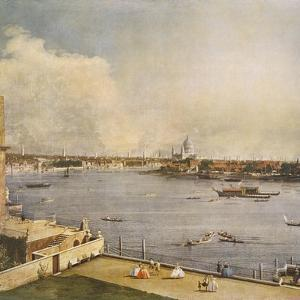 The Thames and the City of London from Richmond House, Whitehall, Westminster, C1747 by Canaletto