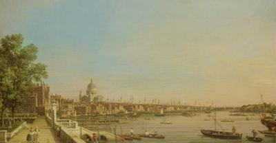 The Thames from the Terrace of Somerset House Looking Towards St. Paul's, c.1750 by Canaletto
