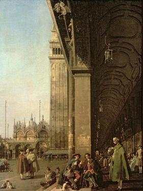Venice: Piazza Di San Marco and the Colonnade of the Procuratie Nuove, c.1756 by Canaletto