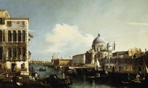 Venice, the Grand Canal: the Salute and Dogana from the Campo Sta Maria Zobenigo by Canaletto