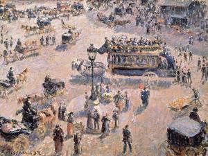 View of Saint-Lazare Square with Horse-Drawn Vehicle 1893 by Canaletto