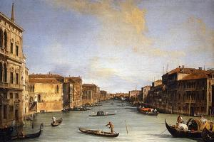 View of The Grand Canal from the Rialto Bridge, c.1730-68 by Canaletto