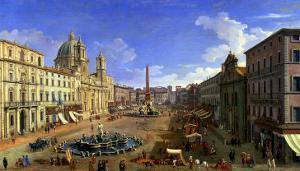 View of the Piazza Navona, Rome by Canaletto