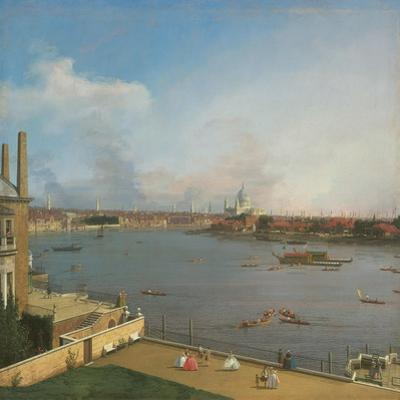 View of the Thames, from Richmond House by Canaletto